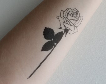 Black Rose Tattoo Etsy