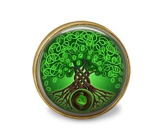 SET Of 2 Vintage Bronze Emerald Green Gothic Crystal Cabinet Drawer Knob Pulls Bifold Bi Fold Closet Door Knobs