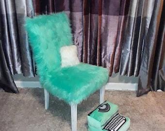 Pleasant Custom Fur Wingback Chair Etsy Machost Co Dining Chair Design Ideas Machostcouk