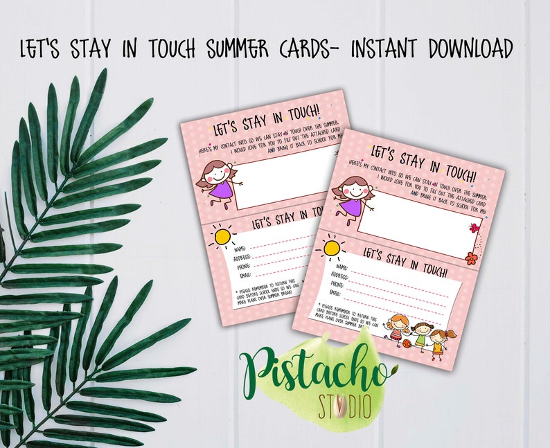 picture relating to Break Cards for Students Printable referred to as Printable Enables Dwell Within Contact Card- Woman- Summer months Split- Youngsters- Summer time- Summer season Close friends Call- Close friends Higher education Get hold of- Fast Obtain