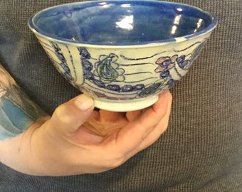 Hand thrown ceramic bowl