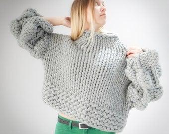 Handmade warm and cosy 100% merino wool sweater