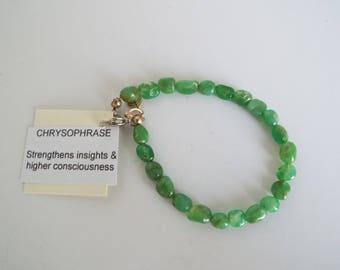 """7"""" Beaded Chrysophrase Bracelet"""