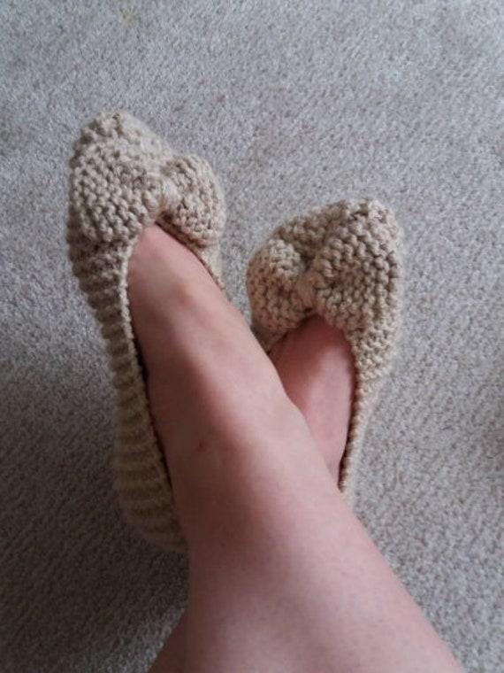 Knit Slippers Pattern Pdf Slippers Easy Knitting Pattern Etsy