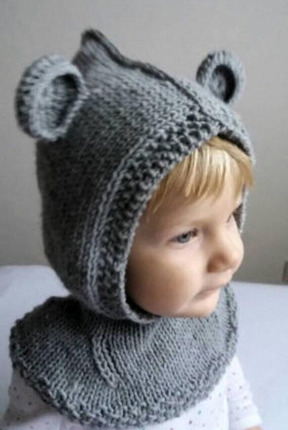 Baby Hat Pattern PDF Knitting Pattern Bear hat pattern Hat  02e5bd33da7