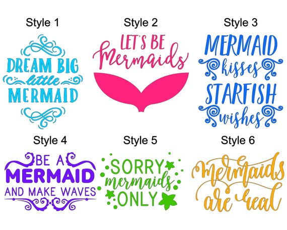 Mermaid Quotes Part 1 Decal For Cups Yeti Decal Glass