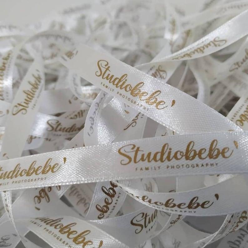 50 yard Custom satin ribbon Personalized ribbon Customised ribbon printed Brand logo on ribbon Handmade clothes tag Text tag Branded ribbon