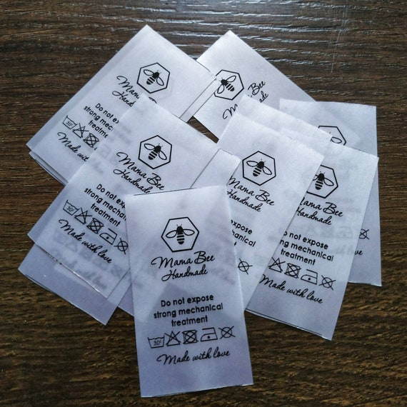 Custom fabric tags and labels Satin ribbon label Custom clothing labels Sew-in clothing labels Clothing tags custom Labels handmade items