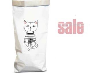 Sac en papier pour sac de rangement papier sac à linge jouet organisation papier sac panier à linge Kraft papier papier réutilisables sacoche