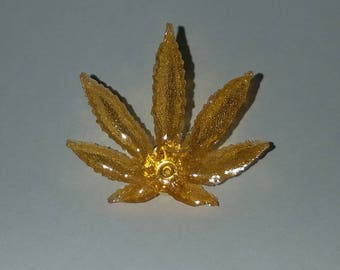 Shatter Cannabis Leaf Hat Pin