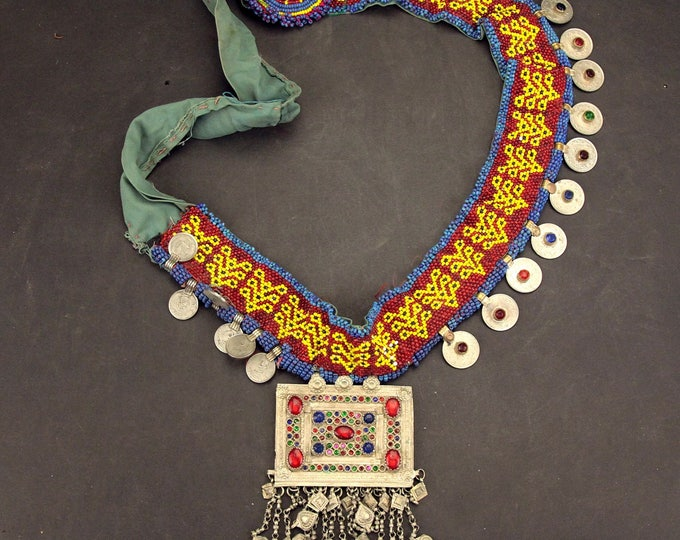 Afghan Tribal BELT Bellydance Dangles Turkoman 868j10