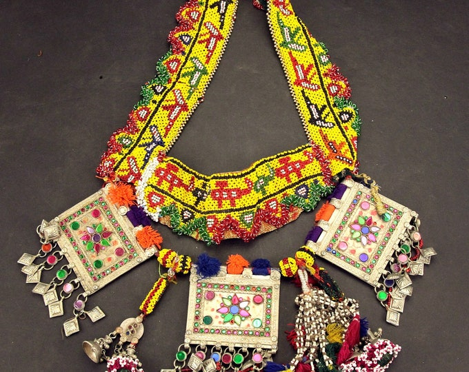 Afghan Tribal BELT Bellydance Dangles Turkoman 868j4