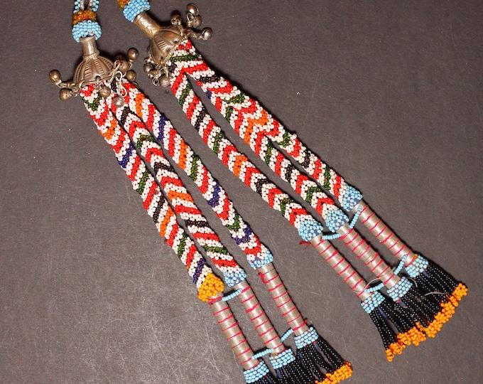 Turkman Tribal DANGLES Bellydance ATS Kuchi Turkoman 622q1
