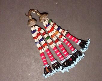 Turkman Tribal DANGLES Bellydance ATS Kuchi Turkoman 622r8