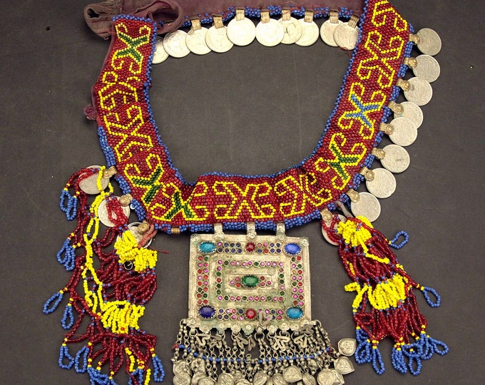 Afghan Tribal BELT Bellydance Dangles Turkoman 868j1