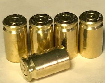 set of 5 .380 brass casing