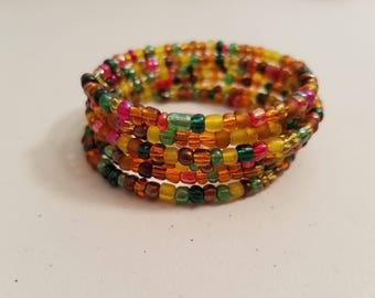 Fall colors coil bracelet