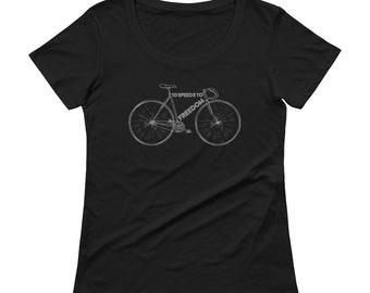 Retro 10 Speed bike Ladies' Scoopneck T-Shirt