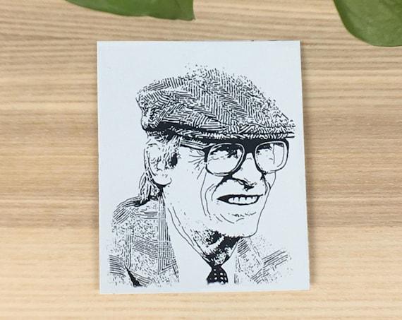 "John Rawls vinyl sticker (approx. 3,5""x4"")"