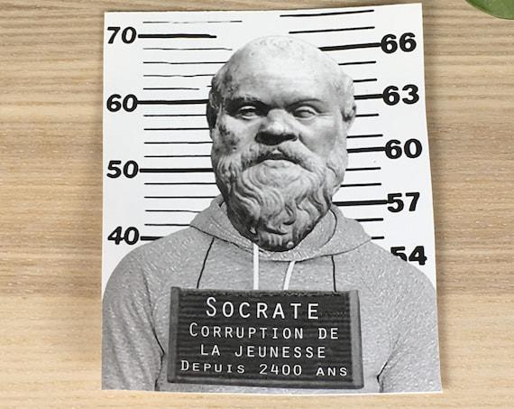 "Socrates vinyl sticker (approx. 3,5""x4"")"