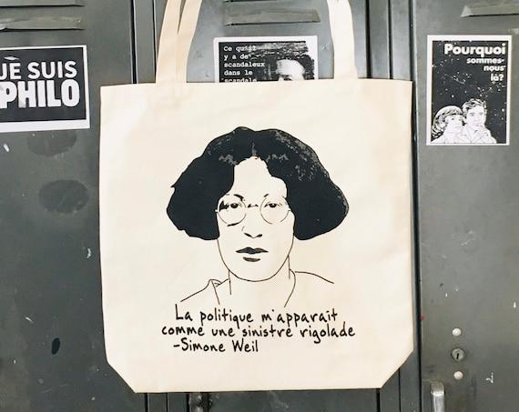 Simone Weil Tote bag