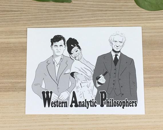 "Wittgenstein, Russell and Cardi B vinyl sticker (approx. 3,5""x4"")"