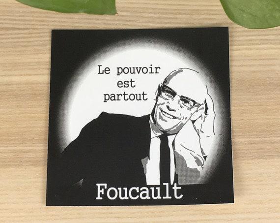"Michel Foucault vinyl sticker (approx. 4""x4"")"