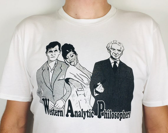 Wittgenstein, Russell and Cardi B T-shirt, printed on organic cotton