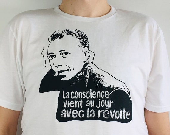 Albert Camus T-shirt printed on organic cotton