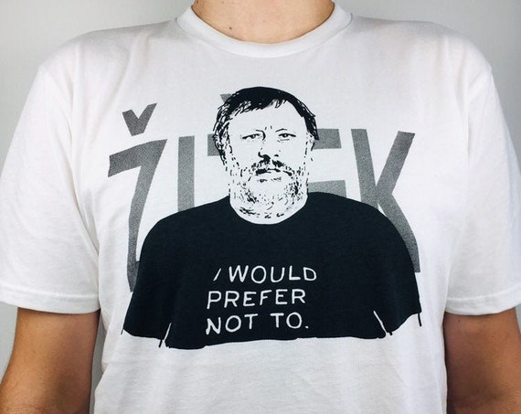 Slavoj Žižek T-shirt printed on organic cotton