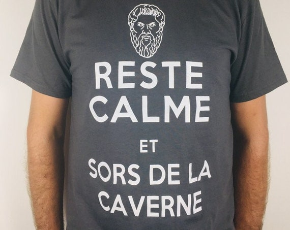 Plato's allegory of the cave T-shirt printed on organic cotton