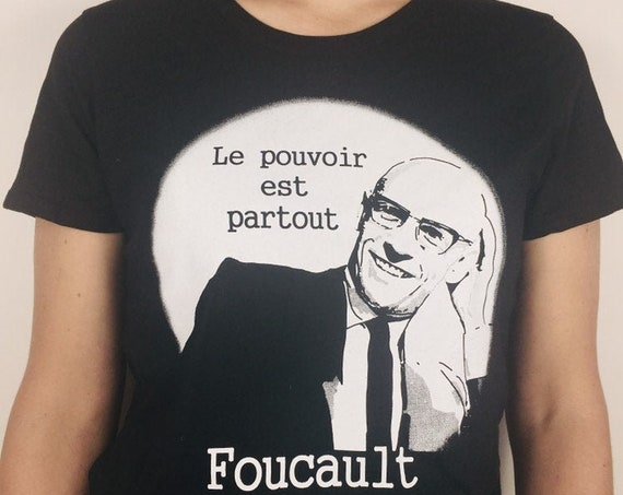 Michel Foucault T-shirt printed on organic Cotton