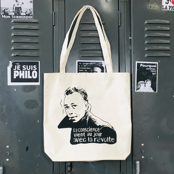 Albert Camus Tote bag (quote from The rebel)
