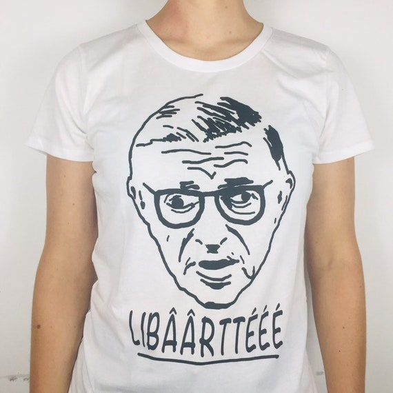 Jean-Paul Sartre (freedom) Organic cotton T-shirt