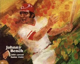 1978 CINCINNATI REDS print - Vintage Baseball Poster