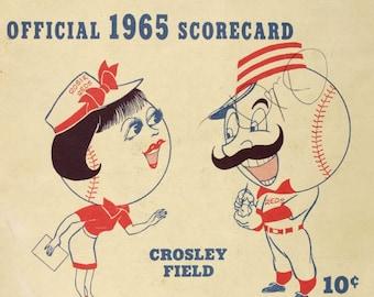 1965 CINCINNATI REDS print - Vintage Baseball Poster