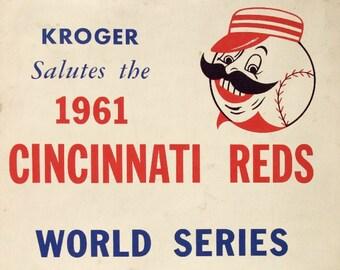 1961 CINCINNATI REDS print - Vintage Baseball Poster