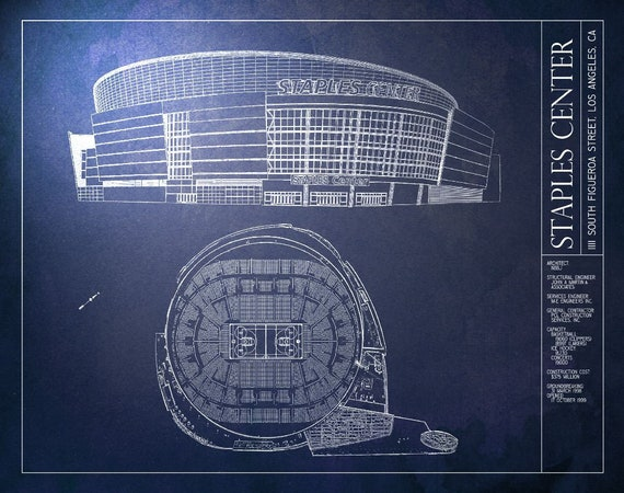 Staples center blueprint los angeles lakers vintage malvernweather Choice Image