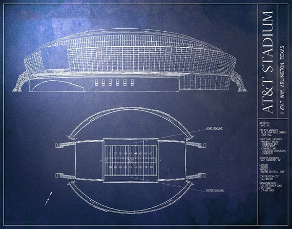 Att stadium blueprint dallas cowboys vintage football malvernweather Choice Image
