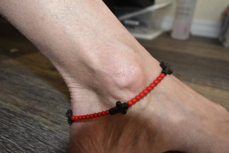 Beaded Anklet Beach Wear Cross Anklet Item #040