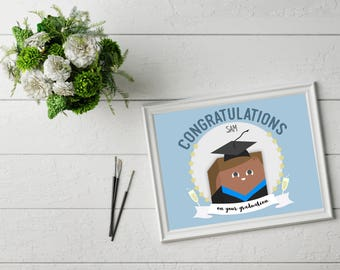 Customised graduation illustration // A4 print // graduate // graduation // student // university // gift // portrait
