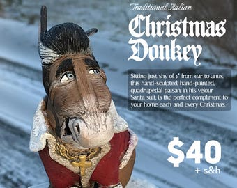 traditional italian christmas donkey