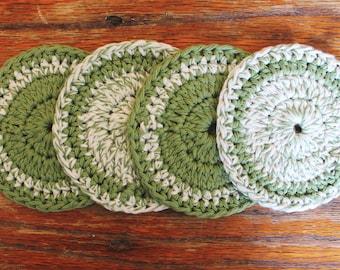 Green Circular Coasters || FOR SALE