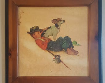 Adventurers Between Adventures by Norman Rockwell lithograph