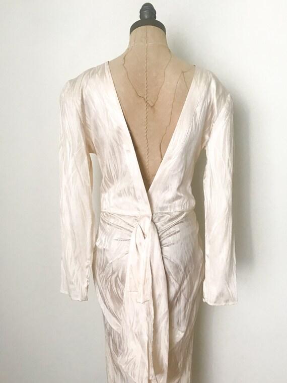 Vintage wedding dress, vintage silk dress, silk w… - image 6
