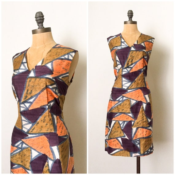vintage wiggle dress - vintage sheath dress - vint