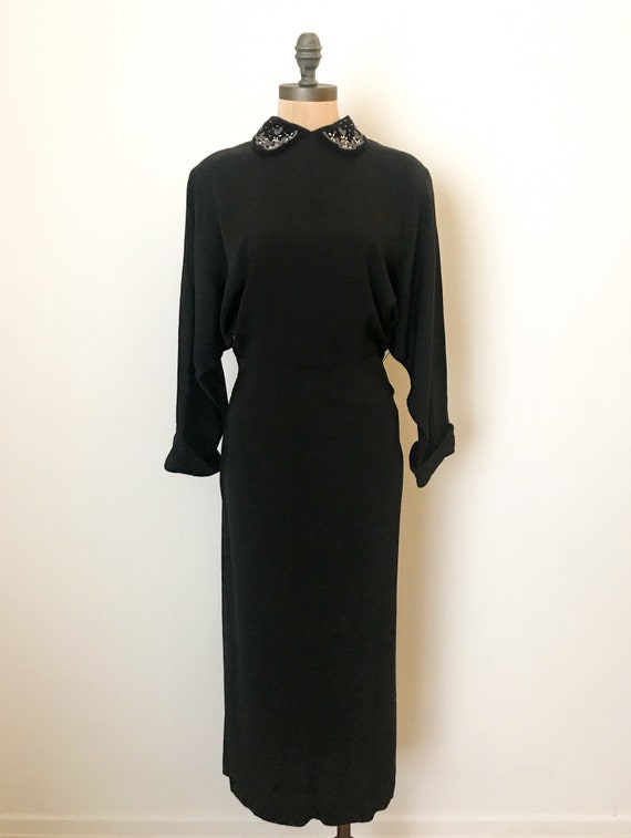 vintage 40s dress - 40s rayon dress - vintage 194… - image 2