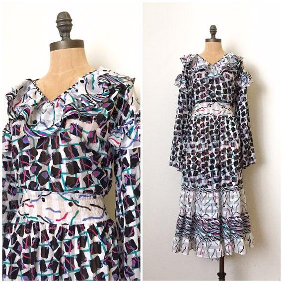 Vintage Diane Freis dress - Diane Freis - 80s Dian