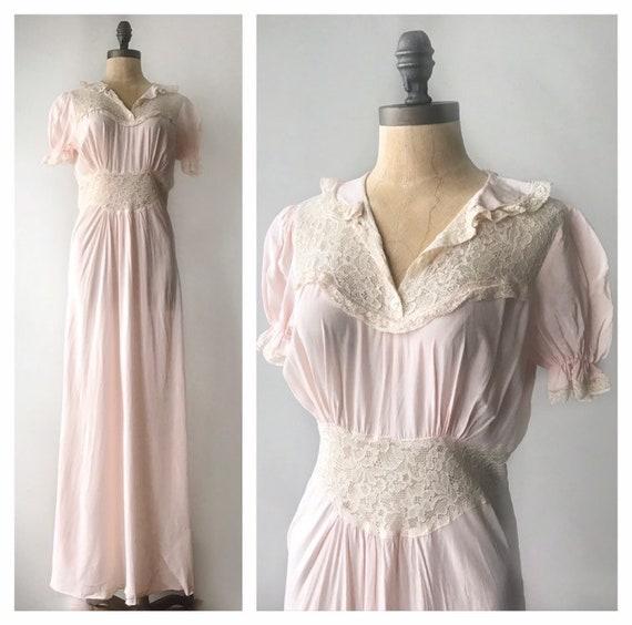 1930s slip dress- vintage slip dress- 1930s dress-