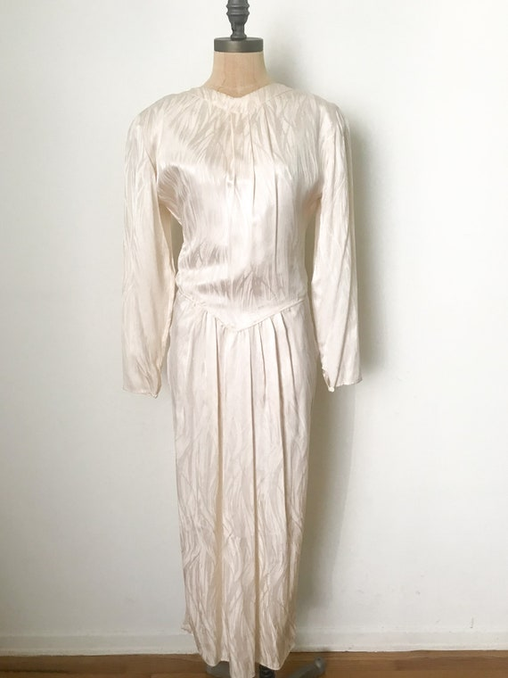 Vintage wedding dress, vintage silk dress, silk w… - image 2